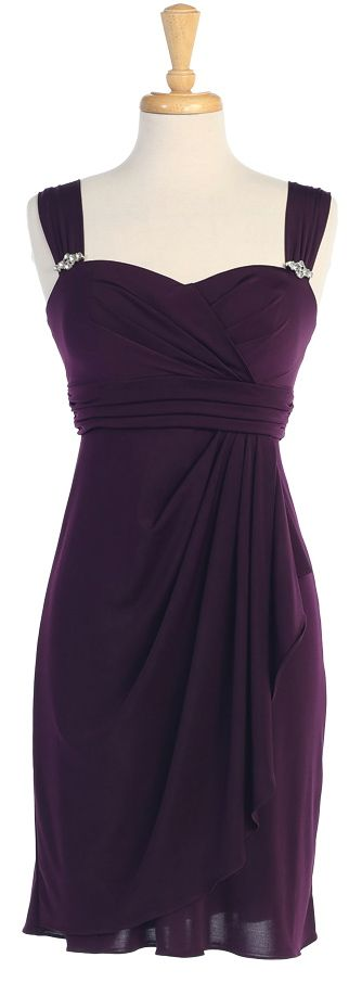 """Bridesmaid Dresses  """"Plum, Teal, Royal, Red, Black.....I like but it wouldn't be a bridesmaid dress"""
