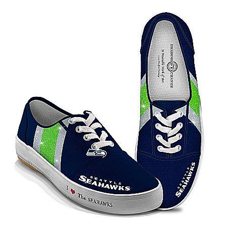Women's Shoes: I Love The Seahawks Women's Canvas Shoes