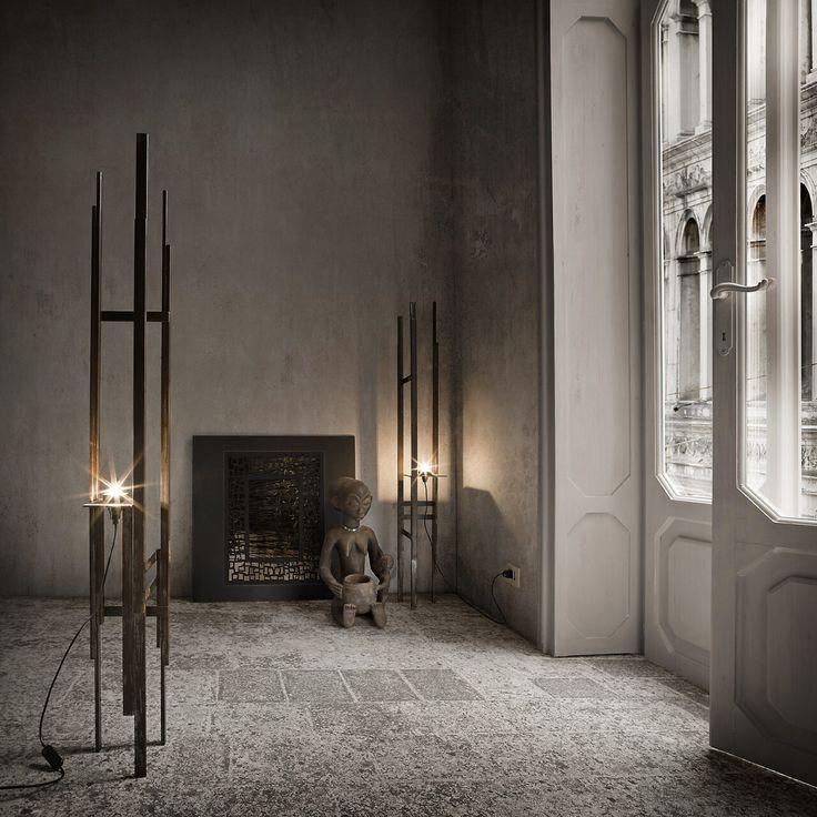 Il design di Candle lamp