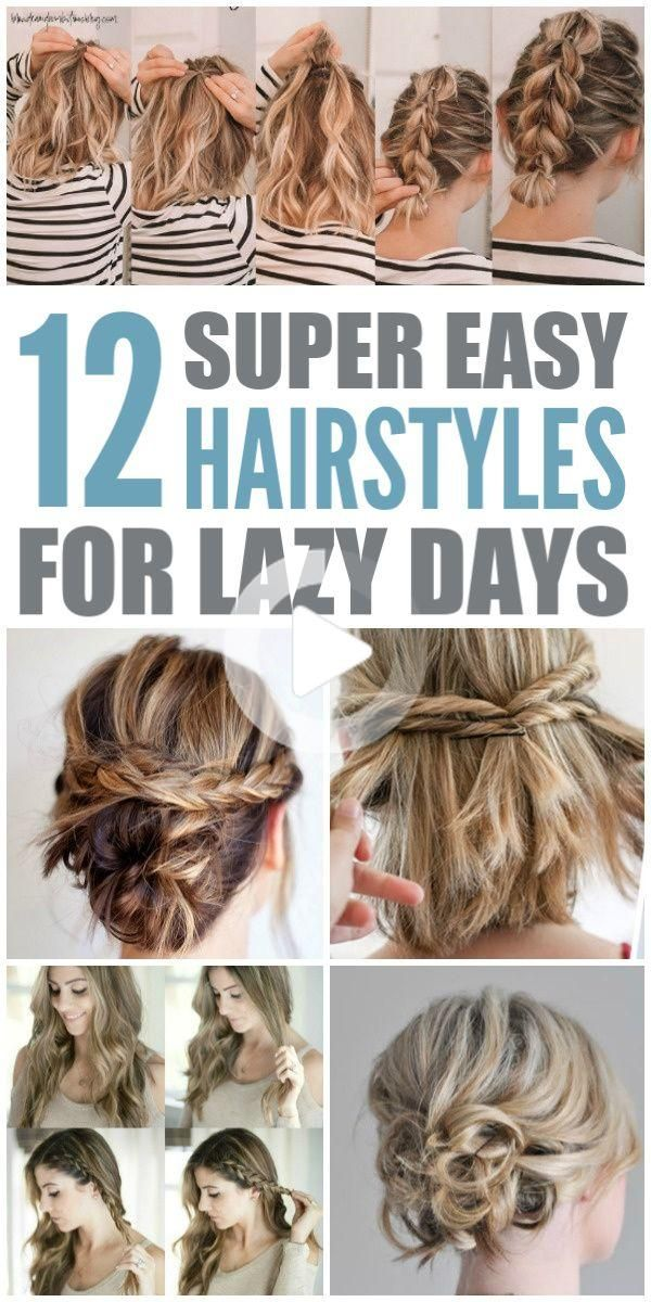 Have You Ever Had Those Lazy Days Where You Just Don T Want To Do A Lot For Your Hair Bu In 2020 Super Easy Hairstyles Short Hair Styles Easy Medium Length