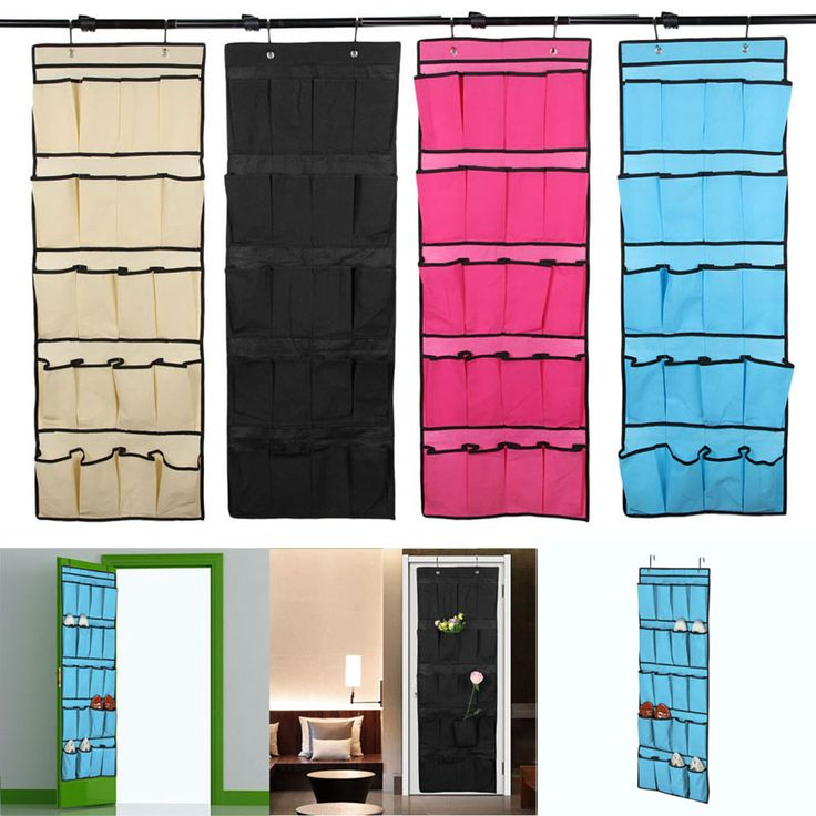 20 Kantong Non Woven Tas Penyimpanan Gantung Pintu Pemegang Rumah Sepatu Organizing Bag dengan Kait Ruang Saver Organizer 33*50 cm