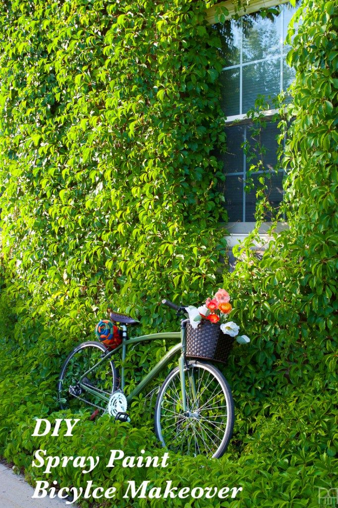 DIY Spray Paint Bicycle Makeover using Krylon paints and accessories from Canadian Tire. Get the full tutorial on the blog.