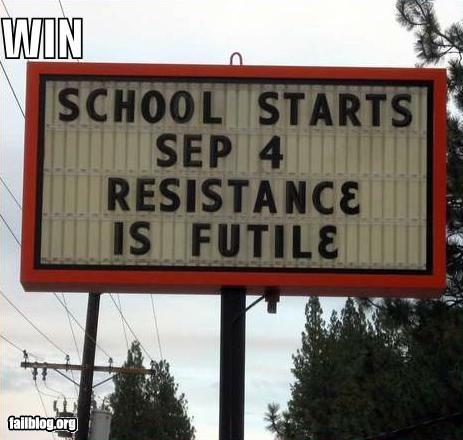 school is coming...Ha ha .....made me laugh!