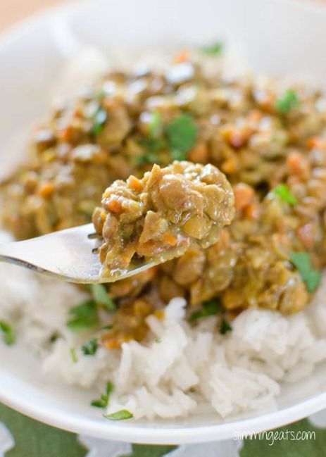 Coconut Green Lentil Curry - Gluten Free, Dairy Free, Slimming World and Weight Watchers friendly