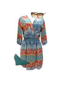 LOOK de la SEMANA Printed dress, mint wedges and eyecat shades
