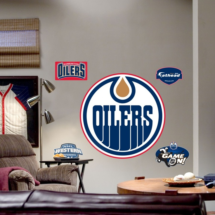 Fathead Edmonton Oilers Logo Wall Graphic - 64-64223