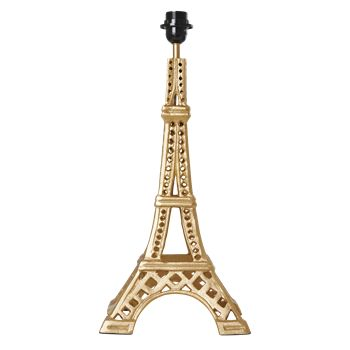 Metal Eiffel Tower Table Lamp in Gold