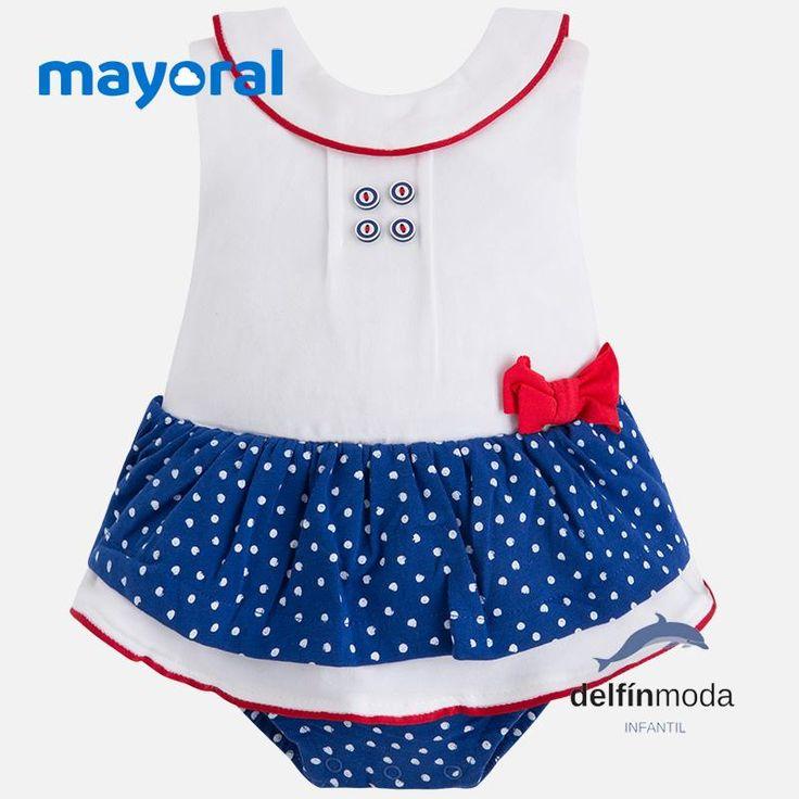 Pelele falda MAYORAL newborn sin mangas con lazo