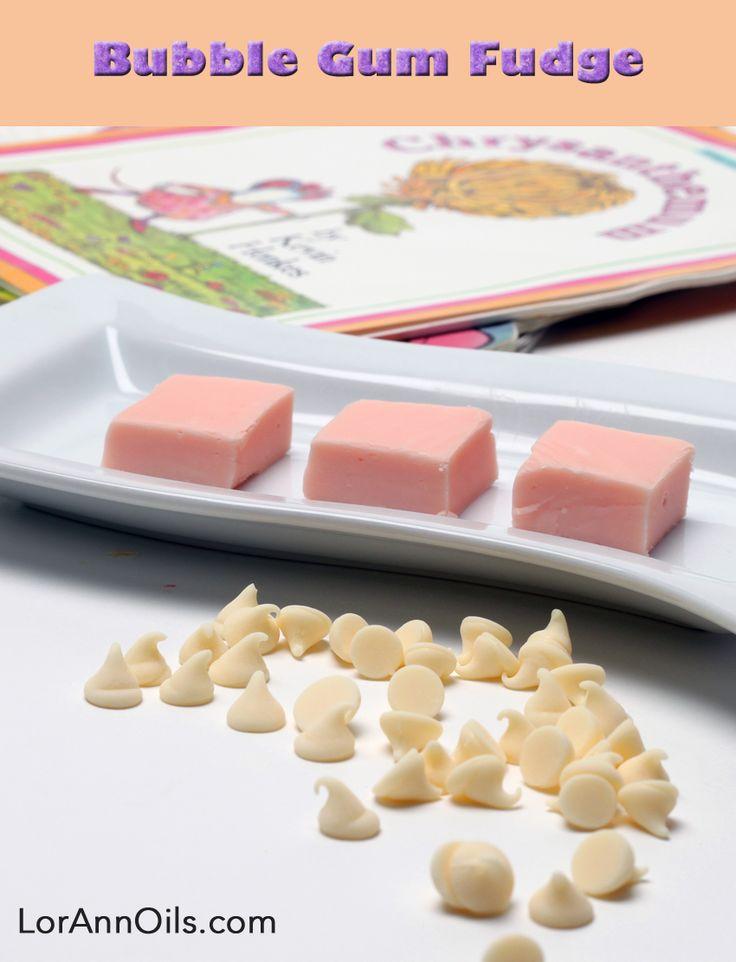 Recipe | Bubble Gum Fudge - LorAnn Oils Make this for my sister's Bubble Gum Bed and Breakfast!