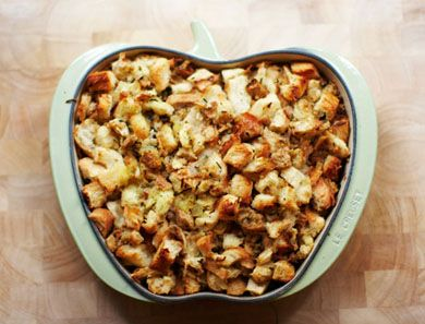 Generous on the onions and fennel seeds, this stuffing is hearty and satisfying but not soggy or heavy as stuffing can sometimes be.