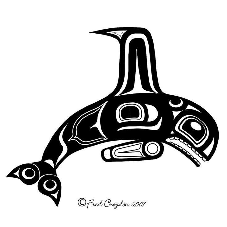 https://flic.kr/p/5NZGgD | Orca Whale 4x4 | Haida Point NW Style Art  Drawn on the Computer