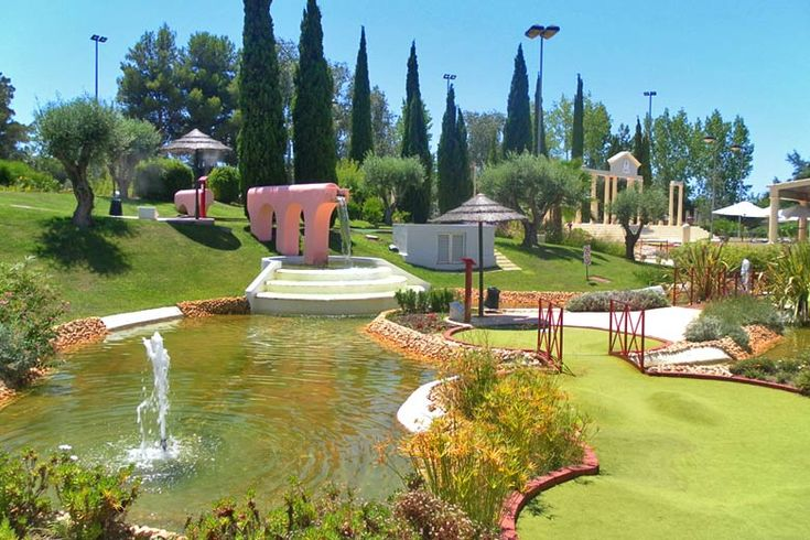 Vilamoura On A Budget: Cheap Things To Do In The #Algarve - via Weather2travel 16.07.2015   Although it's one of Portugal's premier holiday spots, known for its golden beaches, beautiful golf courses, cool nightlife, breathtaking views and Michelin star restaurants, there are plenty of hidden gems that you can experience for free. Photo: Family Golf Park, Vilamoura - photo courtesy of www.familygolfpark.pt