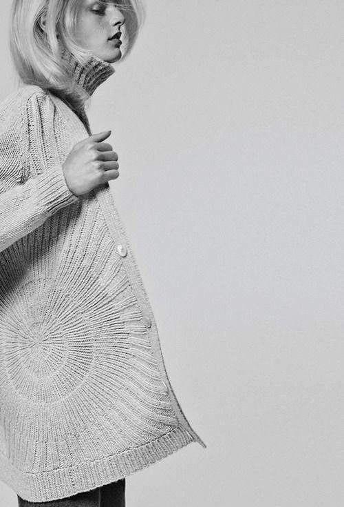 Knitted cardigan with radial pattern; contemporary knitwear design // TSE Fall 2013