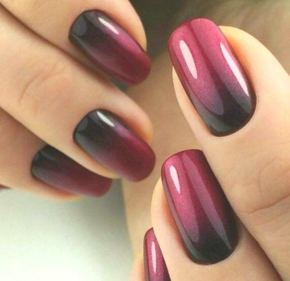 Black And Maroon Ombre Nails Acrylicnailsoval Acrylicnailsoval Black Maroo Freshpinshop Ombre Nails Maroon Nails Ombre Nail Art Designs