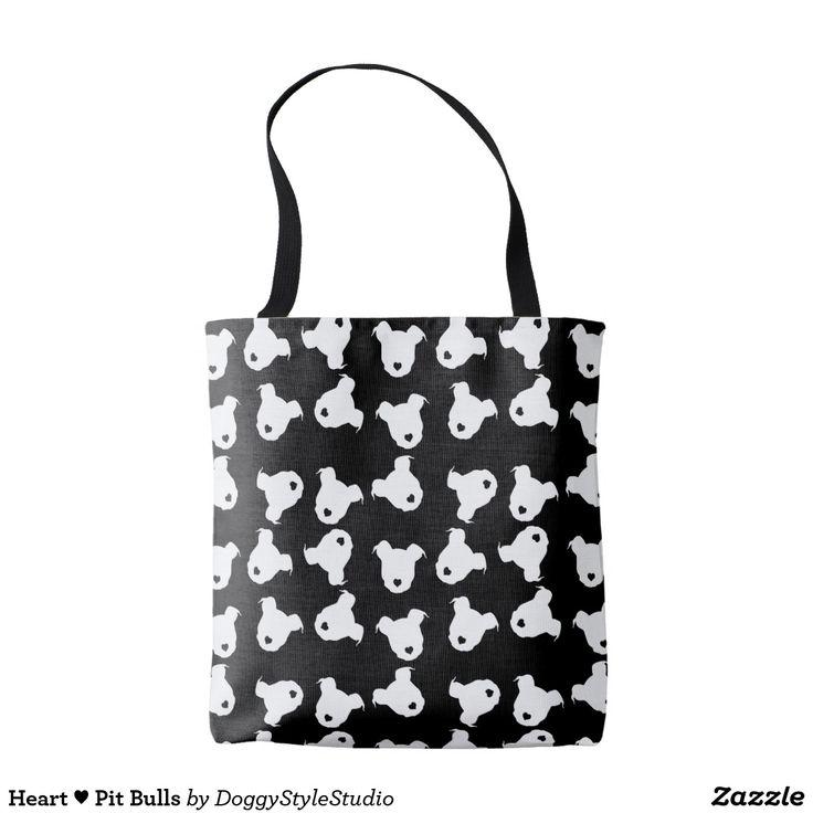 Heart ♥ Pit Bulls Tote Bag