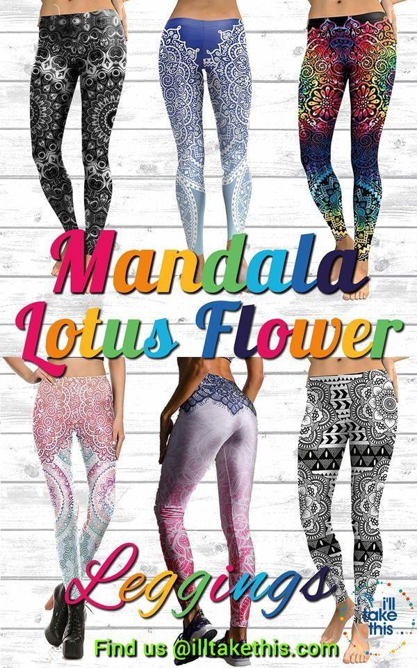 f62d803f787bf LEGGINGS - Great Selection Of Mandala Flower, Lotus Leaf Printed Designs # leggings #yogapants #yoga #pants #tights #fitness #meditation #namaste