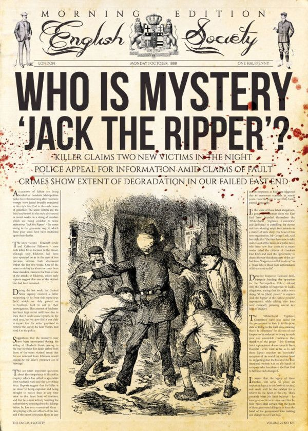 Jack The Ripper Newspaper' Poster Print by Mr Zero | Displate | Vintage  newspaper, Historical newspaper, Old advertisements