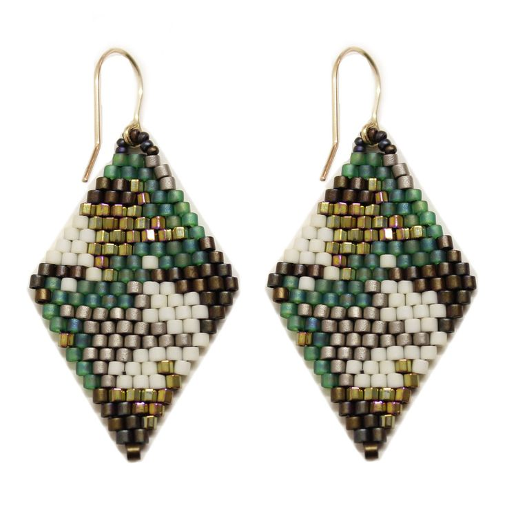 Camo Beaded Earrings. #blumaproject