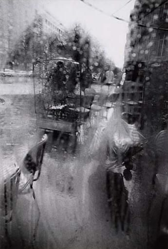 """Rear Window, Paris,"" photograph by Saul Leiter, c. 1960 Dimensions:  13.5 X 9…"