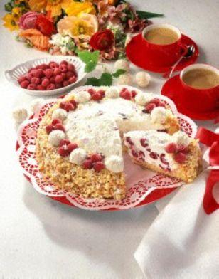 Raffaello-Himbeer-Torte (12 Stücke)