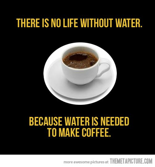 :): Water, Life, Truth, Funny, So True, Tea, Coffee Quotes