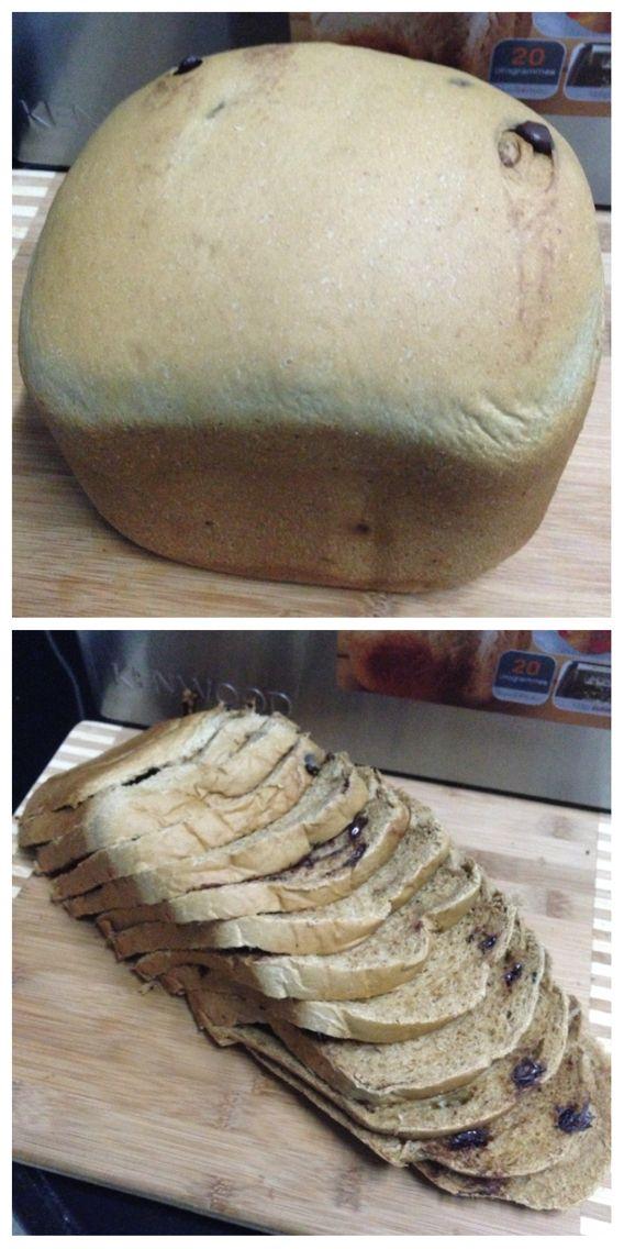 Mozzarella coffee chocolate bread