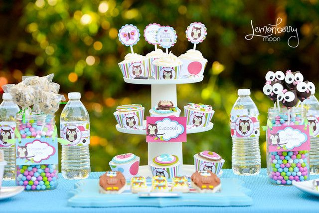 Pastel Owl Birthday Party #owl #party