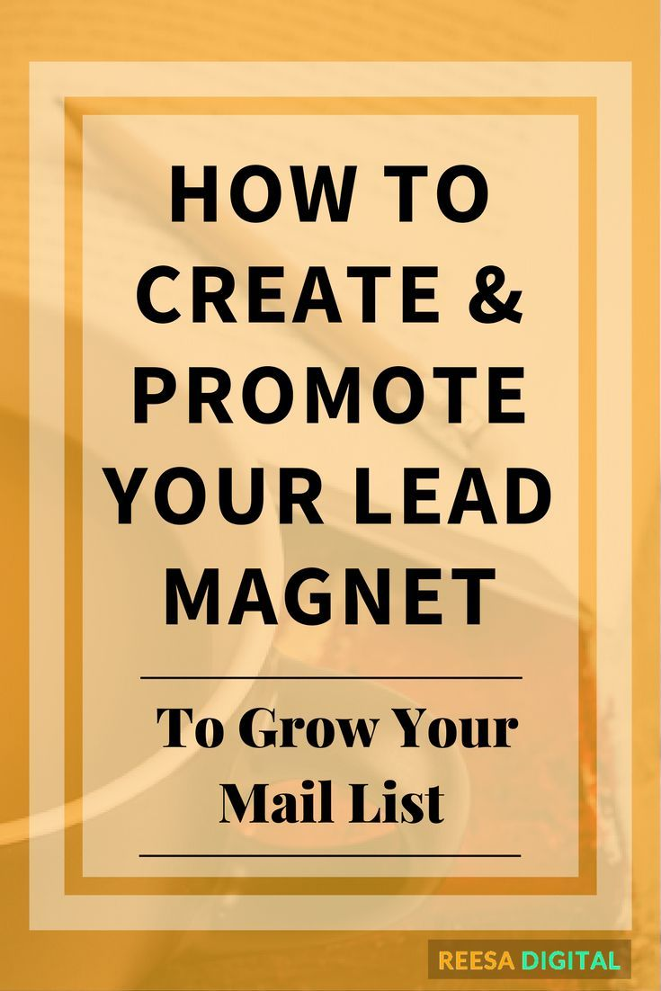 Lead Magnets | Business tips - How to create and promote your lead magnet to grow your mail list | #LeadGeneration #entrepreneur #BusinessTips | reesadigital.com
