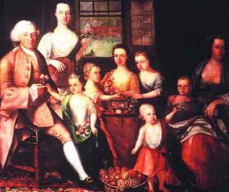 1685 - 1750 Bach: The success of tobacco merchants such as John Glassford (who now has a street named after him in Glasgow) brought great wealth to a number of families in the city