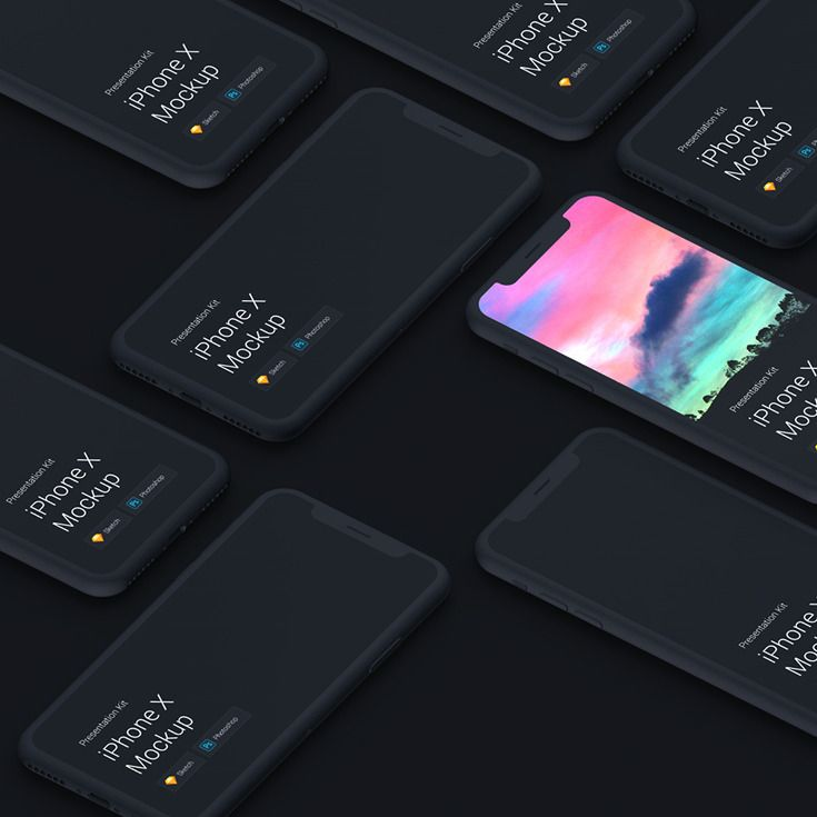 Collection of awesome iPhone X mockups for Sketch and Photoshop #mockup #iphonex