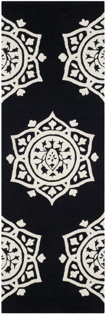 Romford Hand-Tufted Black Area Rug