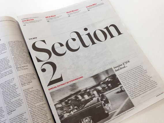 The newly re-designed Independent features some beautiful typefaces designed by A2 Type's Henrik Kubel