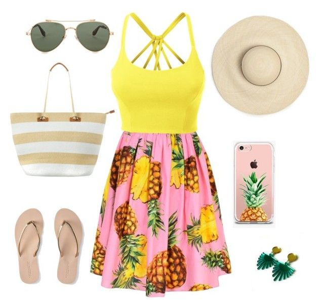 """""""Fashionable for a day in the sun during summer ☀️"""" by shivani-arvind on Polyvore featuring Dolce&Gabbana, LE3NO, The Casery, Givenchy, Aéropostale and Phase Eight"""