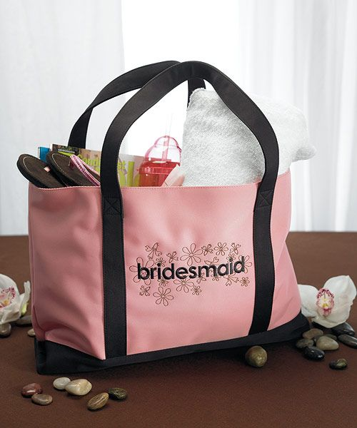 """Bridesmaid"" Two Tone Tote: $17.45 #Wedding  #Bridesmaid"