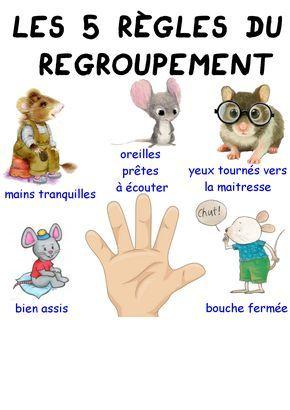 Les 5 règles du regroupement - Maitresse Myriam