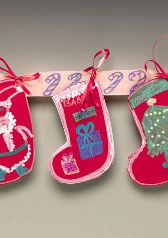 Make A Merry Decoration With Holiday Stockings That Can Be Hung Anywhere To Add Festive Atmosphere