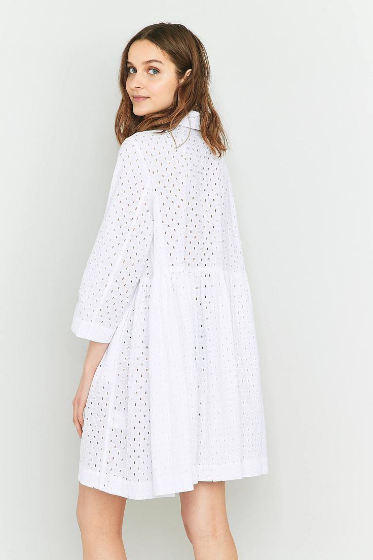 Slide View: 4: Peter Jensen Diana Broderie Anglaise Smock Dress
