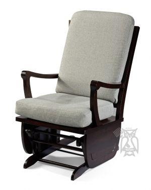Wonderful Personalize The Brendan Glider Rocking Chair In Espresso Finish