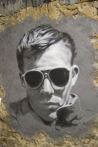 An artist's impression of Hunter S Thompson. Photo by Abode of Chaos