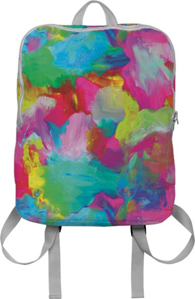 Abstract Painting Backpack by zoe-schlacter