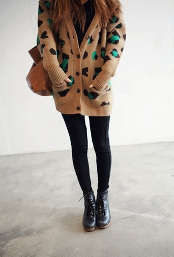 Long sweater and boots