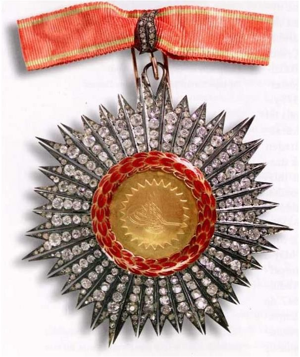 The Order of Distinction or Order of Honour (Turkish: Nişan-i Imtiyaz) was an order of the Ottoman Empire founded by Sultan Abdul Hamid I. It was a higher honor than the Order of Glory and given to reward merit and outstanding services. It was revived on 17 December 1878 by Sultan Abdul Hamid II.
