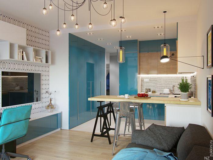 Как оформить квартиру площадью 29 квадратных метров: амбициозный проект московских дизайнеров
