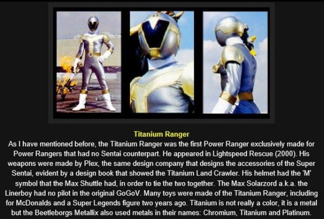 The Titanium ranger. Gets cooler every time I read this. #SonGokuKakarot