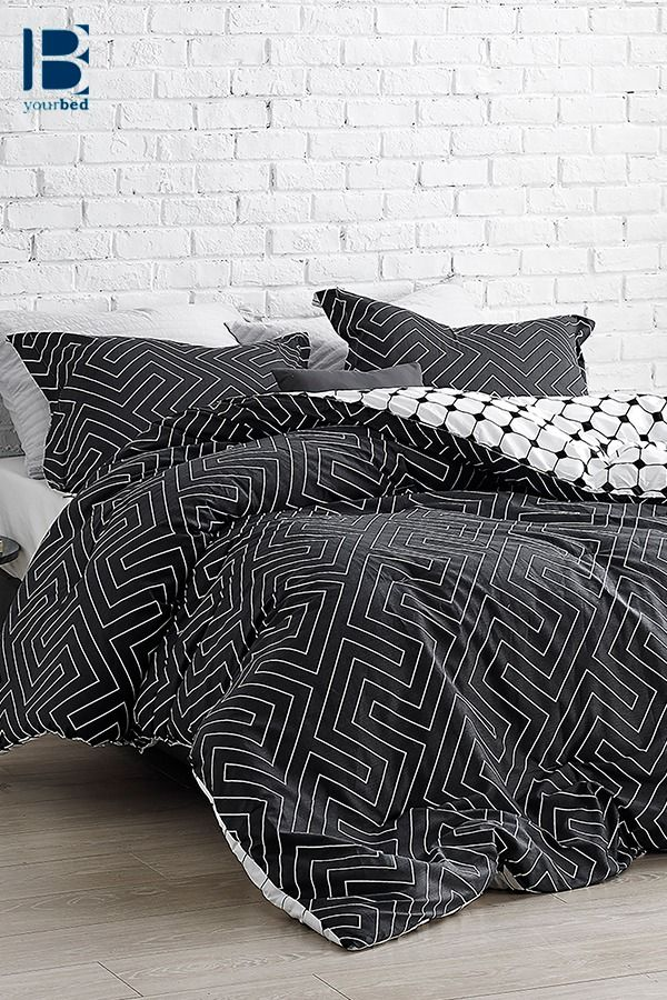 One Of A Kind King Oversize Comforter Designer Faded Black And