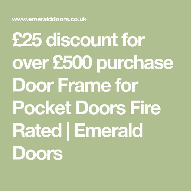 £25 discount for over £500 purchase Door Frame for Pocket Doors Fire Rated   Emerald Doors
