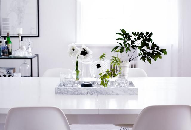 Marble tray by HAY