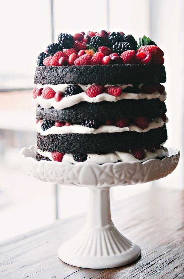 Голый торт шоколадный бисквит