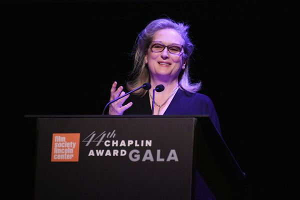 Meryl Streep Photos Photos - (EXCLUSIVE COVERAGE)  Actress Meryl Streep speaks onstage during the 44th Chaplin Award Gala at David H. Koch Theater at Lincoln Center on May 8, 2017 in New York City. - 44th Chaplin Award Gala - Show