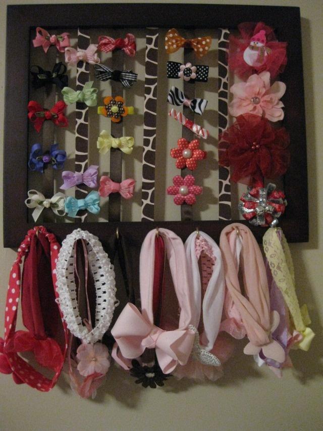 Bow and headband holder ~  Porta laço e faixa de cabelo